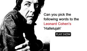 Can you pick the following words to the Leonard Cohen's 'Hallelujah'