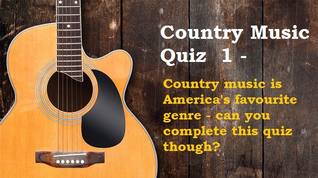 Country Music Quiz 1