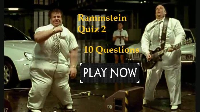 Rammstein Quiz 2 (ich will)