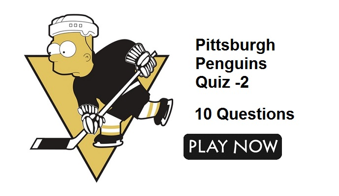 Pittsburgh Penguins Quiz -2