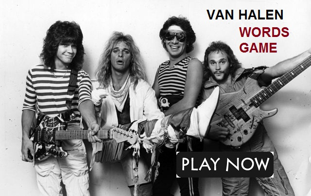 Can you name the four letter words in this Van Halen themed word ladder?