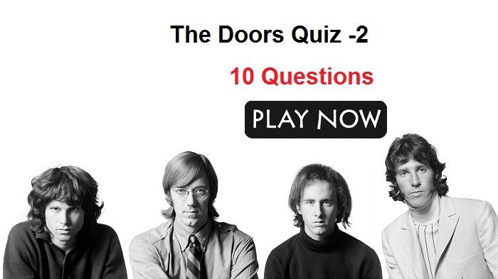 The Doors Quiz -2