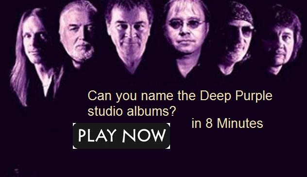 Can you name the Deep Purple studio albums?