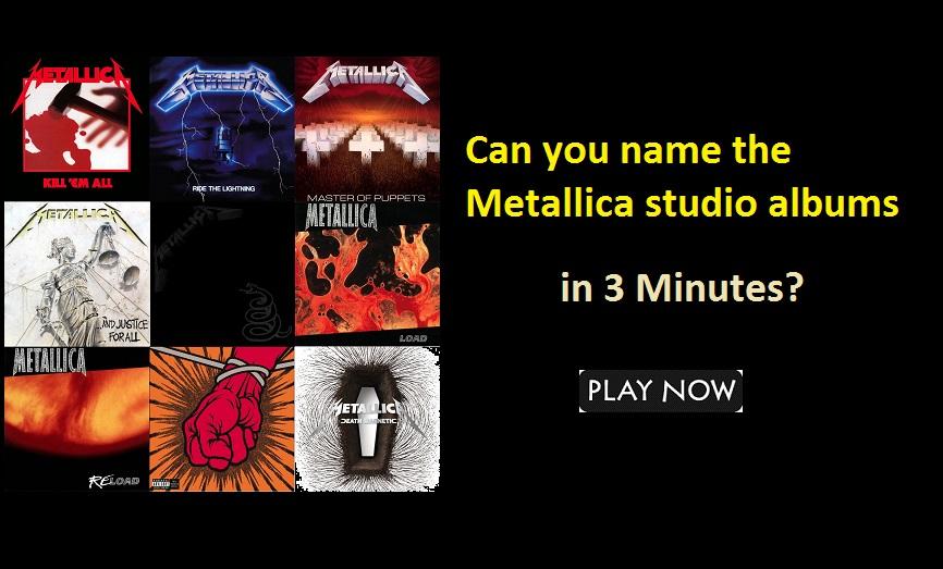 Can you name the Metallica studio albums