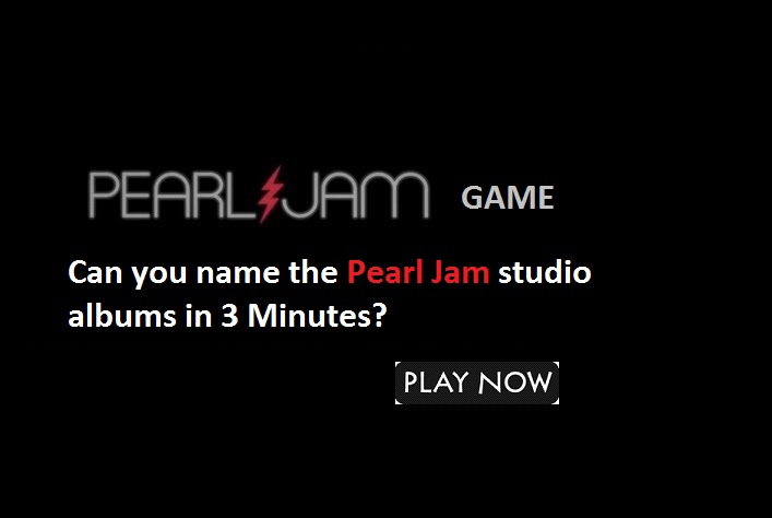 Can you name the Pearl Jam studio albums?