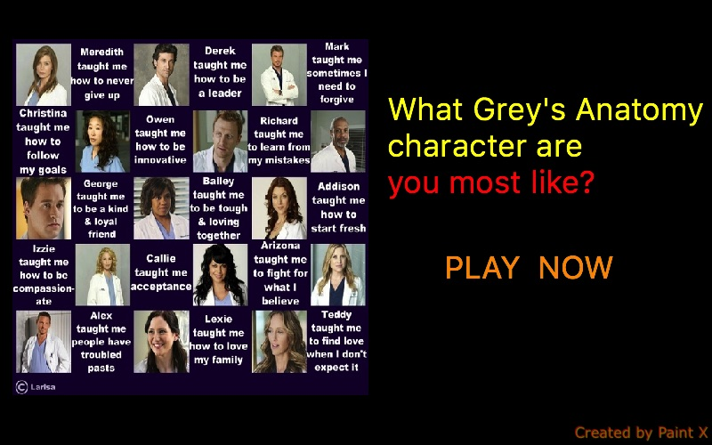 What Grey's Anatomy character are you most like?