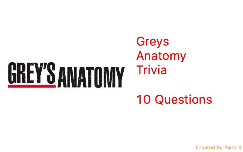 Greys Anatomy Trivia