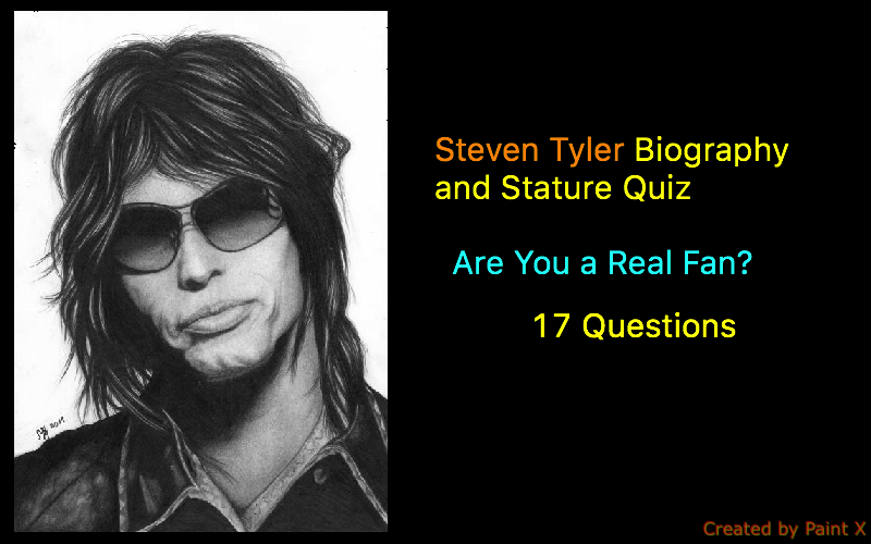 Steven Tyler Biography and Stature Quiz - 1