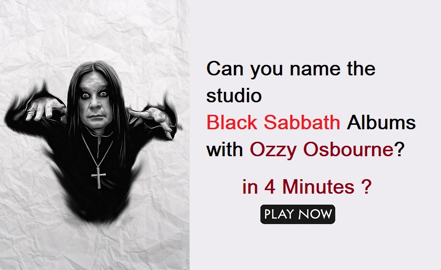 Can you name the studio Black Sabbath Albums with Ozzy Osbourne