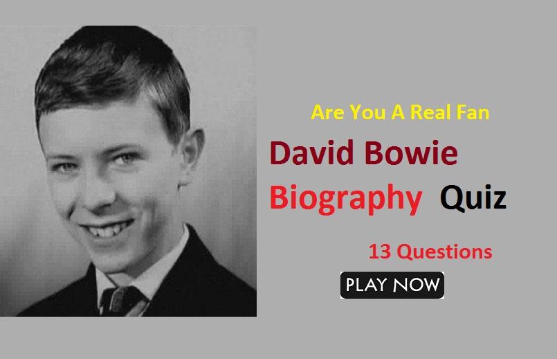 David Bowie Biography Trivia Quiz - Part-1