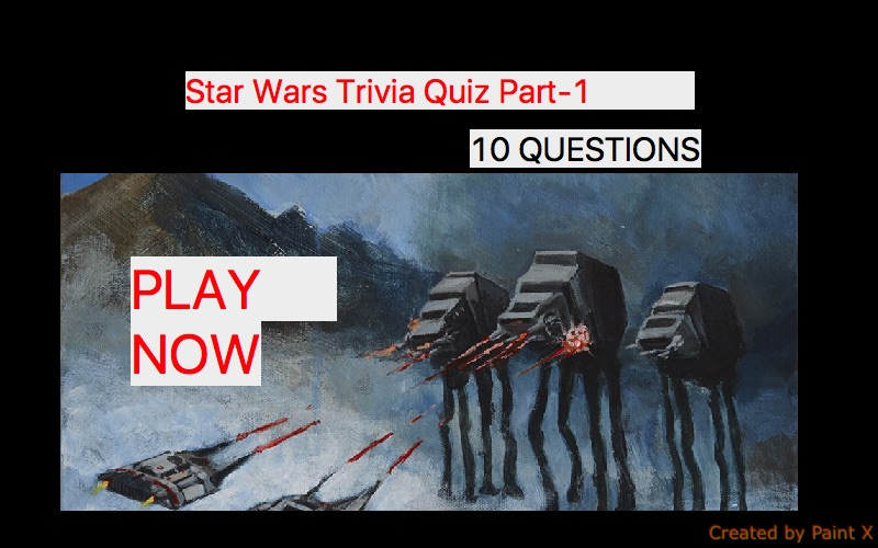 Star Wars Trivia Quiz Part-1