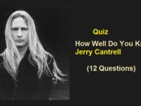 How Well Do You Know Jerry Cantrell (12 Questions)