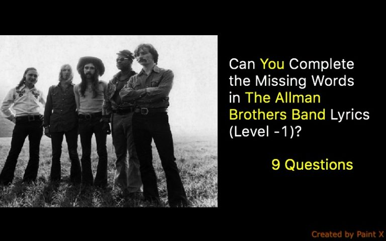 Can You Complete the Missing Words in The Allman Brothers Band ...