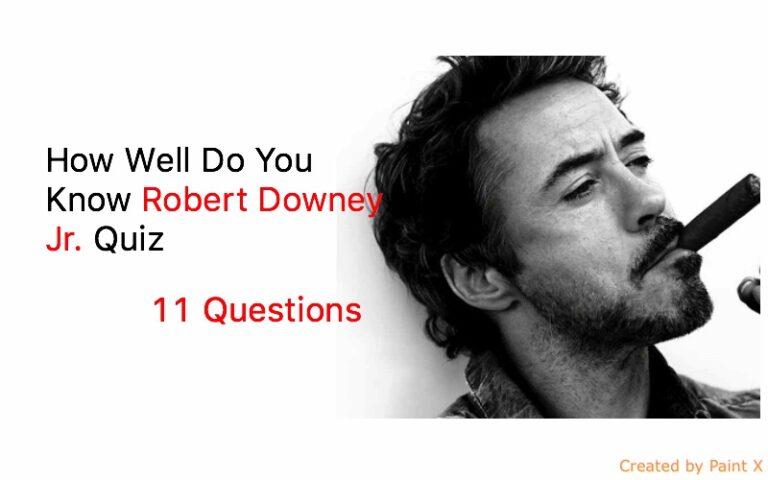 Robert Downey Jr Trivia Quiz Quiz For Fans