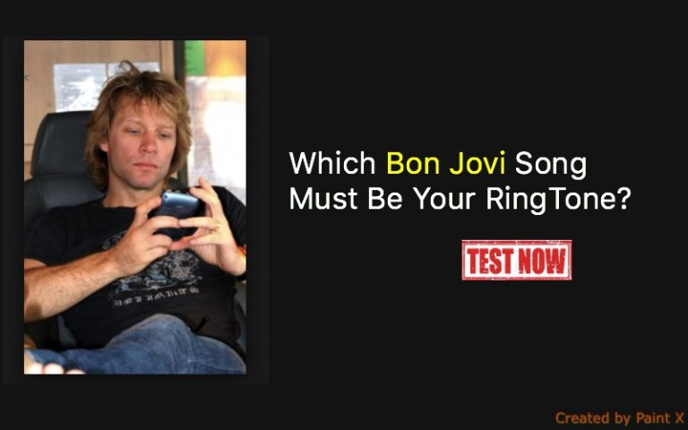 Which Bon Jovi Song Must Be Your Ringtone Quiz Quiz For Fans
