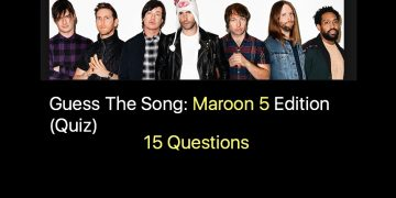 Guess The Song- Maroon 5 Edition (Quiz)