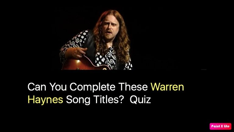 Can You Complete These Warren Haynes Song Titles? Quiz