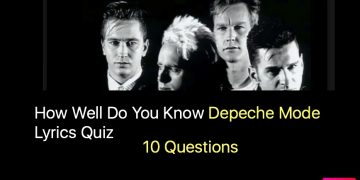 Depeche Mode Lyrics Quiz
