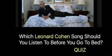 Which Leonard Cohen Song Should You Listen To Before You Go To Bed?