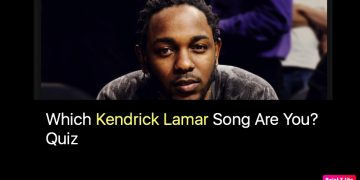 Which Kendrick Lamar Song Are You? Quiz